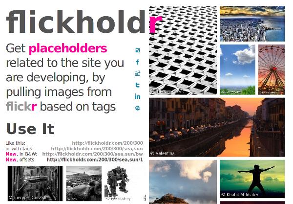 screenshot of flickholdr.com