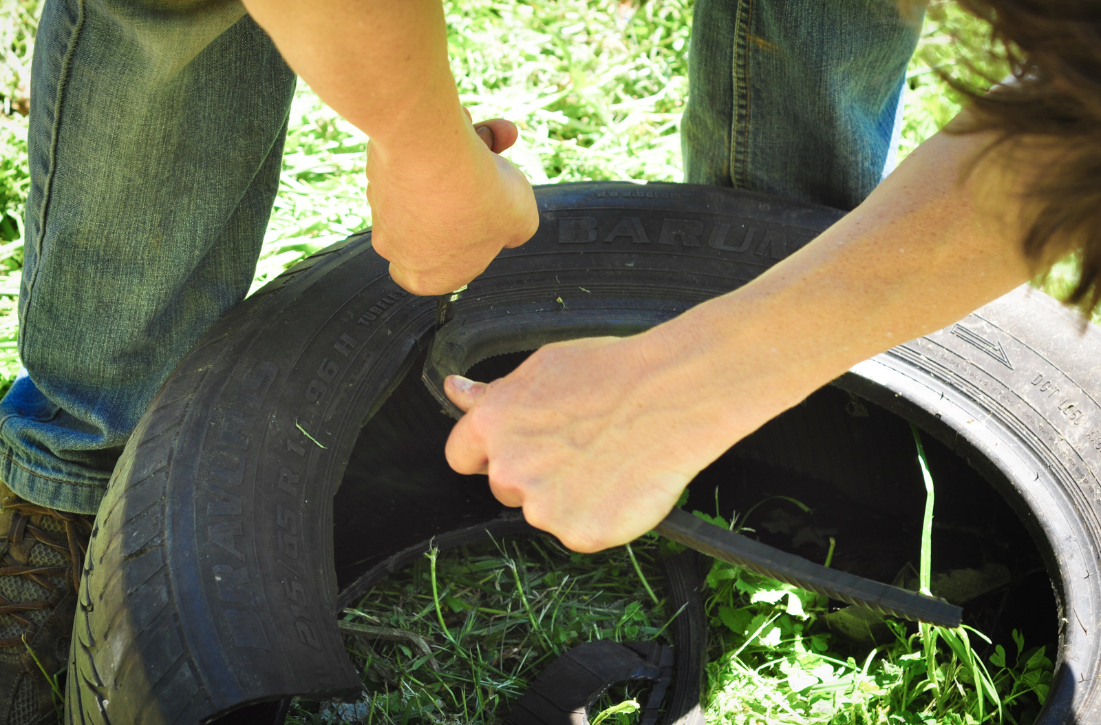 """""""Cutting the tire"""""""